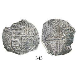 Potosi, Bolivia, cob 4 reales, (1)617(M), Grade 3.