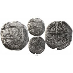Cartagena, Colombia, cob 8 reales, 1622A, mintmark RN to left, Grade unknown, rare, with Fisher tag
