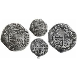 Cartagena, Colombia, cob 4 reales, 1622A, mintmark S to left, Grade 1, very rare.