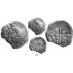 Mexico City, Mexico, cob 4 reales, 1622/0/19D, very rare, Grade 1.