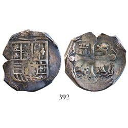 Mexico City, Mexico, cob 4 reales, Philip III or IV, assayer not visible, ex-Spink.