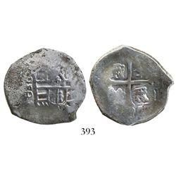 Mexico City, Mexico, cob 4 reales, Philip IV, assayer D.