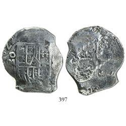 Mexico City, Mexico, cob 8 reales, (1)627/6/5D, very rare.