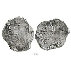 Mexico City, Mexico, cob 8 reales, 1640/39P.