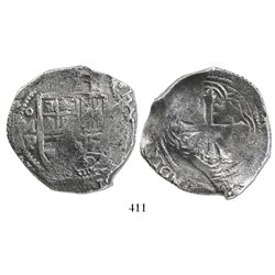 Mexico City, Mexico, cob 8 reales, (16)40P.