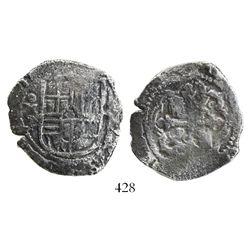 Mexico City, Mexico, cob 4 reales, (16)37P, rare.