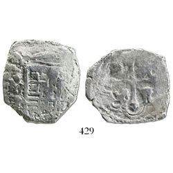 Mexico City, Mexico, cob 4 reales, 1639P.