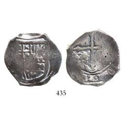 Mexico City, Mexico, cob 4 reales, Philip IV, assayer not visible (P).