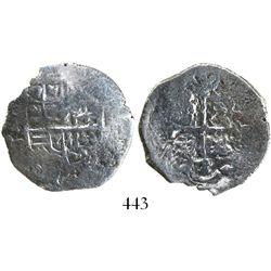 Mexico City, Mexico, cob 2 reales, Philip IV, assayer not visible.
