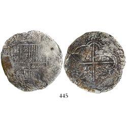 Potosi, Bolivia, cob 8 reales, (163)3(T), rare.