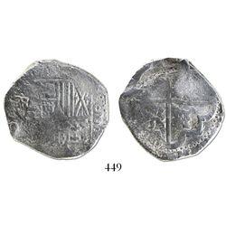 Potosi, Bolivia, cob 8 reales, Philip IV, assayer TR.