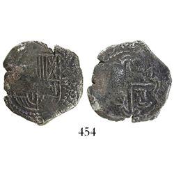 Potosi, Bolivia, cob 2 reales, (163)0(T), rare.