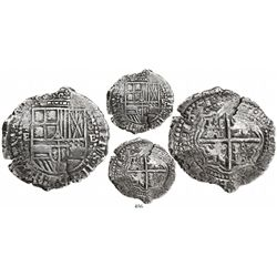 Potosi, Bolivia, cob 8 reales, 1651E, no countermark (very rare).