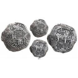 Potosi, Bolivia, cob 8 reales, 1652E transitional Type I, very rare.