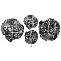 Potosi, Bolivia, cob 4 reales, 1652E Transitional, McLean Type II, very rare, Ponterio Cover Coin.