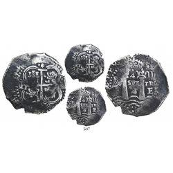 Potosi, Bolivia, cob 4 reales, 1652E Transitional, McLean Type II, very rare.