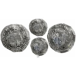 Potosi, Bolivia, cob 8 reales, 1652E transitional Type III, rare.