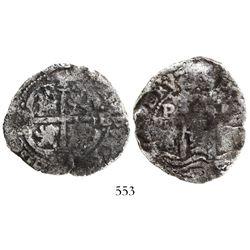 Potosi, Bolivia, cob 4 reales, 165(8-9?)E.