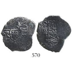 Potosi, Bolivia, cob 1 real, 1670E, rare denomination for this provenance.