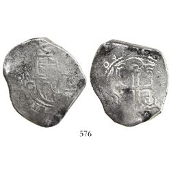 Mexico City, Mexico, cob 8 reales, Philip IV or Charles II, assayer G.