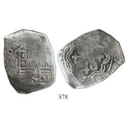Mexico City, Mexico, cob 8 reales, (168)0(L).
