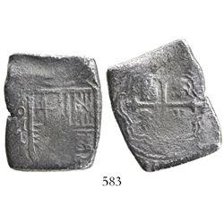 Mexico City, Mexico, cob 8 reales, Charles II, assayer L.