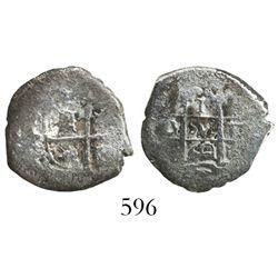 Potosi, Bolivia, cob 1 real, 1660E, rare denomination and mint for this wreck.