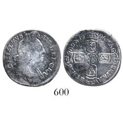 Great Britain, sixpence, William III, 1696.