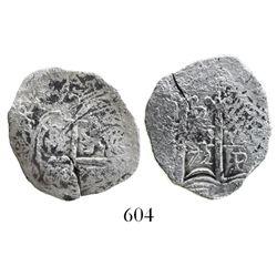 Potosi, Bolivia, cob 2 reales, 1672E, desirable provenance.