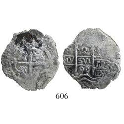 Potosi, Bolivia, cob 2 reales, 1699F, desirable provenance.