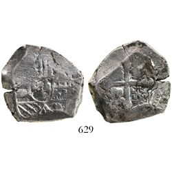 Mexico City, Mexico, cob 4 reales, Philip V, assayer not visible (J), struck with 8R obverse die (ra