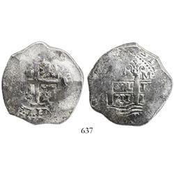 Lima, Peru, cob 8 reales, 1711M.