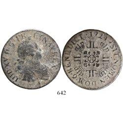 "France (Rennes mint), ecu, Louis XV, 1724, mintmark ""9."""