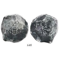 Mexico City, Mexico, cob 8 reales, 1724(D), very rare (Louis I), ex-Prior.