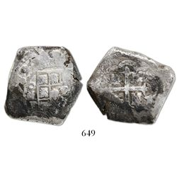 Mexico City, Mexico, cob 8 reales, 1732F, ex-Haskins.