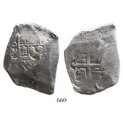 Mexico City, Mexico, cob 8 reales, Philip V, assayer D.