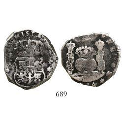 Guatemala, cob 4 reales, (17)34J.