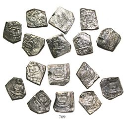 Lot of 8 Guatemala cob 4 reales, 1739J.