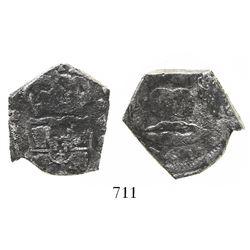Guatemala, cob 4 reales, 1742(J), rare.