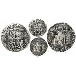Bogota, Colombia, cob 8 reales, 1665, assayer PoRS, very rare.