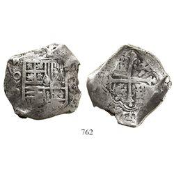 Mexico City, Mexico, cob 8 reales, (1)624/3D, rare.