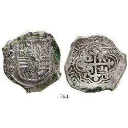 Mexico City, Mexico, cob 8 reales, 1634P, rare.