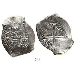 Mexico City, Mexico, cob 8 reales, 1650/49P, rare.