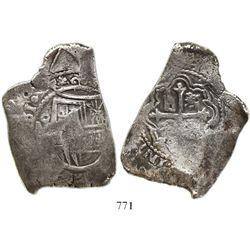Mexico City, Mexico, cob 8 reales, (16)61(P), rare.