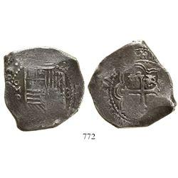 Mexico City, Mexico, cob 8 reales, (1)663P, rare.
