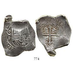 Mexico City, Mexico, cob 8 reales, (16)65P, rare.