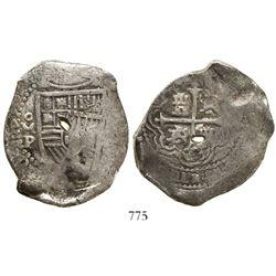 Mexico City, Mexico, cob 8 reales, 1665P, rare.