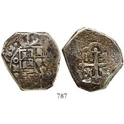 Mexico City, Mexico, cob 8 reales, (1)732F.