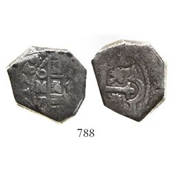 Mexico City, Mexico, cob 8 reales, 1732F, cut down to possible African standard.