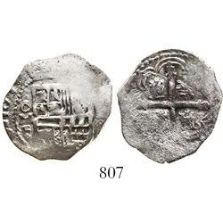 Mexico City, Mexico, cob 1 real, 1609F, rare.